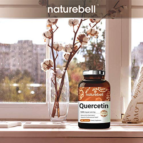 Nature Bell Quercetin 1000mg Per Serving, 240 Capsules, Super Immune Vitamins And Quercetin Vitamins,