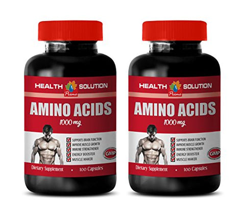 Muscle Pump Supplements - Amino ACIDS 1000 mg - l-lysine Immune Support - 2 Bottles 200 Capsules