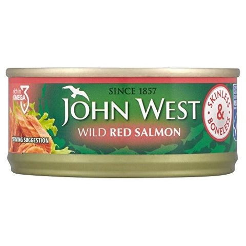 John West Wild Red Salmon Skinless & Boneless (105g)