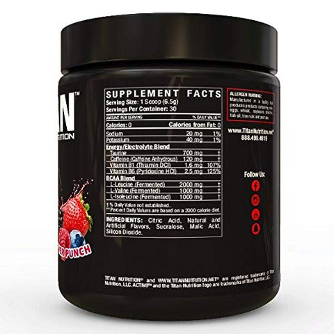 ACTIV8- BCAA + Caffeine and Electrolytes Supplement for Sustained Energy and Mental Focus |Hydration & Endurance|