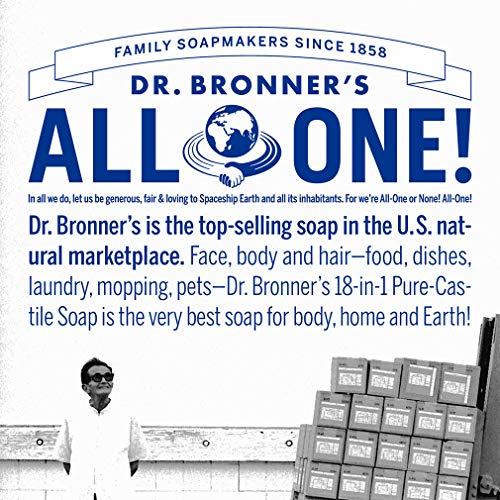 Dr. Bronnerâ??S   Pure Castile Liquid Soap (Baby Unscented, 16 Ounce, 2 Pack)   Made With Organic Oi