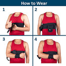 Image of Wonder Care Left Right Shoulder Immobilizer Arm Sling Elastic Brace For Clavicle Collar Bone Disloca
