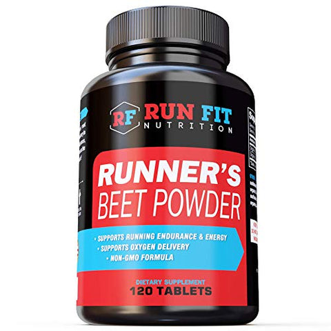 Runner's Beet Powder - Boosts Endurance, Energy, VO2 Max - Natural and Long Lasting - Run Faster for Longer - Made in The USA.