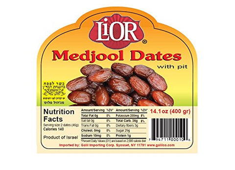 Lior All Natural Medjool Dates with Pits, 14.1 Ounce