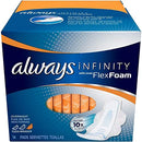 Image of Always Infinity Maxi Pads With Avec FlexFoam Overnight 14 ea (Pack of 4)