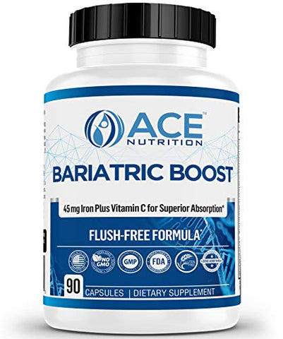 New & REFORMULATED Bariatric Boost One-A-Day Multivitamin 90 Day Supply with 45mg Iron Post Gastric Bypass Sleeve Surgery | Non-GMO, Gluten Free, Bariatric Multivitamin Made in USA |