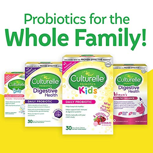 Culturelle Kids Packets Daily Probiotic Supplement | Helps Support a Healthy Immune & Digestive System* | #1 Pediatrician Recommended Brand | 30 Single Packets | Package May Vary