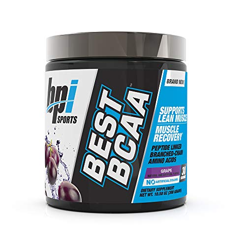 BPI Sports Best BCAA - BCAA Powder - Branched Chain Amino Acids - Muscle Recovery - Muscle Protein Synthesis - Lean Muscle - Improved Performance - Hydration - Grape - 30 Servings - 10.58 oz.