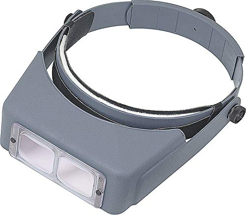 "Donegan DA-4 OptiVISOR Headband Magnifier, 2X Magnification Glass Lens Plate, 10"" Focal Length"