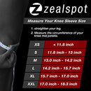 Image of ZEALSPOT Knee Sleeves(1 Pair) Compression & Support for Weightlifting, WOD, Squats, Gym, Powerlifting & Crossfit-7mm Neoprene Knee Brace-Both Women & Men,Black