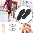 Image of Dr. Foot's Arch Support Insoles, Help Against Plantar Fasciitis, Metatarsal and Heel Pain, Diabetic Anti-Sweat Foam Comfortable Insoles for Shock Absorption (M | 5~9 US Women's, Black)