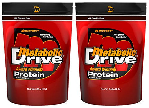 Metabolic Drive Protein, Whey Isolate, Micellar Casein, Chocolate 2 Pack (4 lb)