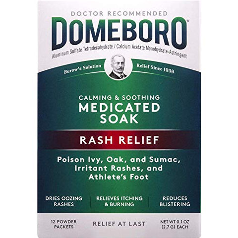 Domeboro Soothing Soak Rash Relief Astringent, 12 Packets each, Pack of 7