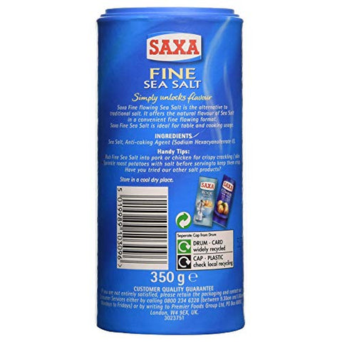 Saxa Fine Sea Salt (350g)