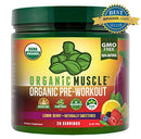 Image of Organic Muscle #1 Rated Organic Pre Workout Powder Natural Vegan Keto Pre Workout & Organic Energy S