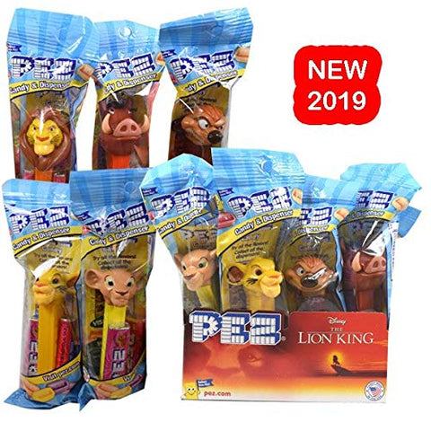 PEZ Candy Disney Lion King Dispenser, 12 Count Display Pack
