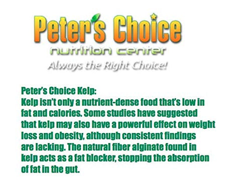 Peter's Choice Kelp Tablets 150mg, Supports Healthy Thyroid Function*, Vegetarian Tablets