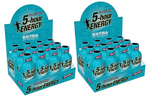 Sport Nutrition Energy Shots (24-Pack, Extra Strength Blue Raspberry)
