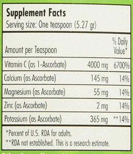 C Saltsâ® Gmo Free Buffered Vitamin C Powder (1000mg   4000mg) | 140+ Servings, 1.6 Lbs (26oz) | The