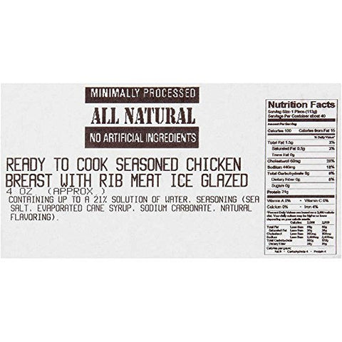 Dutch Quality House Natural Ready to Cook Chicken Breast Fillets, 4 Ounce -- 1 each.