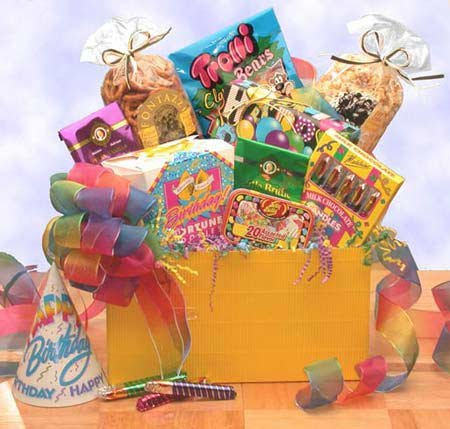 Cheers to You! Happy Birthday Gift Basket
