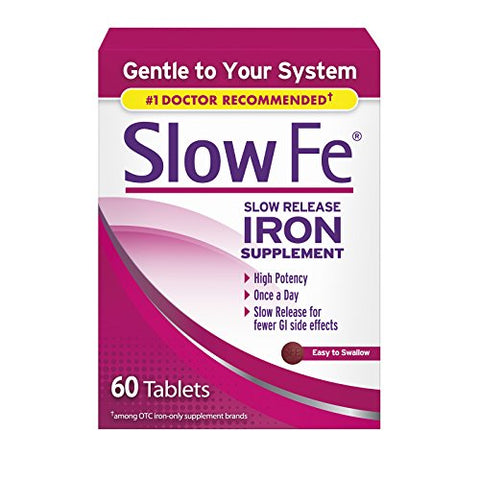 Slow Fe Slow Release Iron Supplement 60 Tablets (3 Pack)