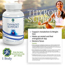 Image of Thyroid Support Supplementã'â With Iodineã'â   Metabolism, Energy & Focus Formula   Vegetarianã'â &