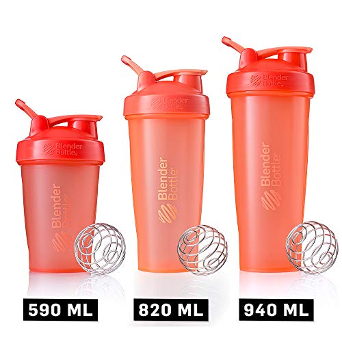 BlenderBottle C01642 Classic Loop Top Shaker Bottle, 32-Ounce, Coral/Coral