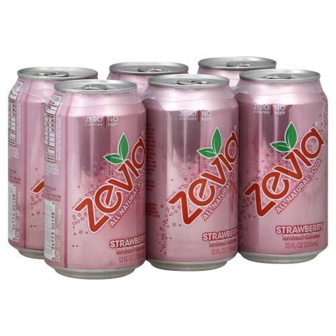 Soda Strwbry 6Pk (Pack of 4) by Zevia