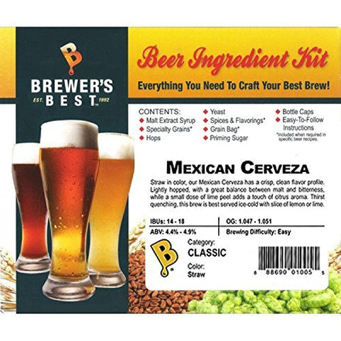 Brewer's Best Home Brew Beer Ingredient Kit - 5 Gallon (Mexican Cerveza)