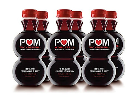 POM Wonderful Pomegranate Cherry, 100% Juice, 16-ounce, 6 Count