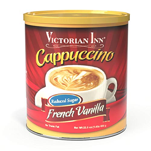 Victorian Inn Instant Cappuccino, Reduced Sugar French Vanilla, 1.4 Pound (Pack of 4)