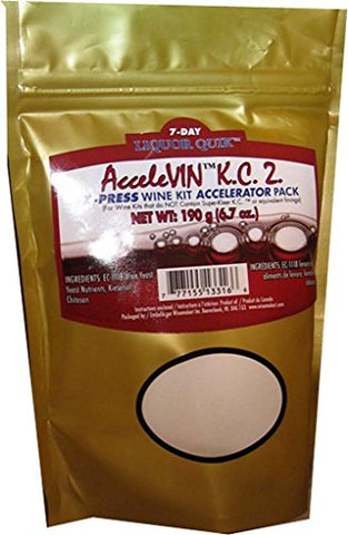 Liquor Quik AcceleVIN K.C.2. 190g X-Press Wine Kit Accelerator Pack (Gold)