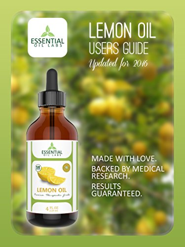 Lemon Essential Oil - Highest Quality Therapeutic Grade Backed by Research - Largest 4 Oz Bottle with Premium Dropper - 100% Pure and Natural by Essential Oil Labs
