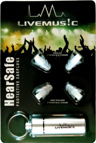 Live Mus!C Hear Safe Ear Plugs   High Fidelity Earplugs For Musician, Concert, Drummer, Dj & Clubbing