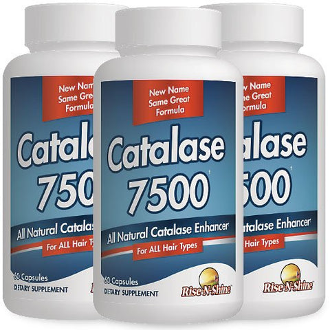 Catalase 7500 Catalase Enzyme Hair Supplement 3 Month Supply With Paba, Fo Ti, Saw Palmetto, Biotin A
