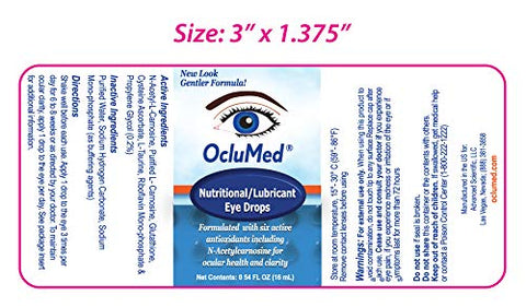 Oclumed Nutritional Eye Drops 15ml Bottle