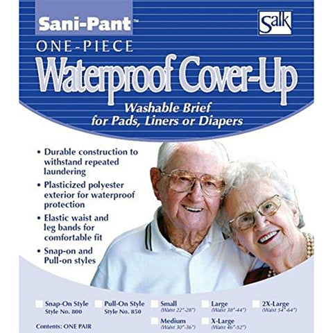 Salk Sani-Pant Pull-On Cover-Up Washable Brief, X-Large, 3-Pack