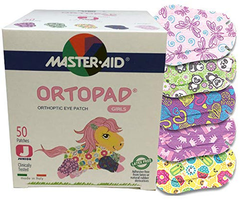 Ortopad Bamboo for Girls Eye Patches (50 Per Box) (Junior Size)