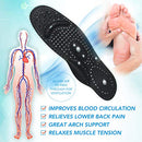Image of U.S. Jaclean Massage Therapist Shoes Tropical Shiatsu Acupressure Massaging Magnetic Insoles (XL(M10.5-12/W12-13)