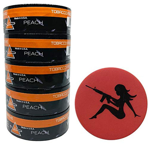Nip Energy Dip Peach 5 Cans with DC Crafts Nation Skin Can Cover - Mudflap