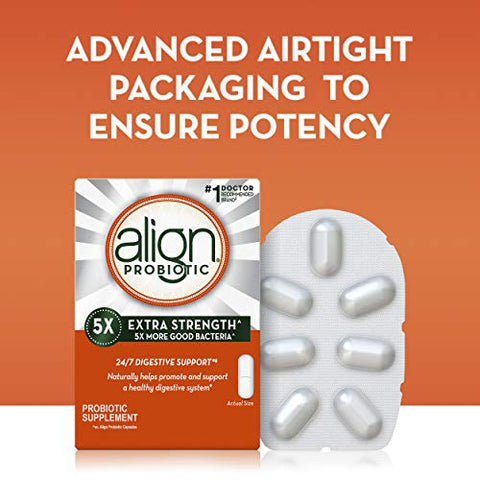 Align Extra Strength Probiotics Supplement, Vegan And Gluten Free, 42 Capsules, Digestive Support Fo