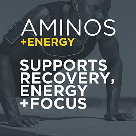 Purbolics Aminos + Energy | Supports Recovery, Energy & Focus | 95mg of Caffeine, 0 Calories & 10 Servings (Rainbow Candy)