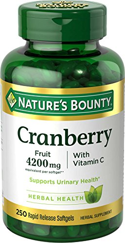 Cranberry Pills W/ Vitamin C By Nature's Bounty, Supports Urinary & Immune Health, 4200mg Cranberry