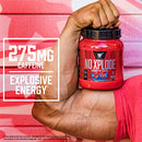 Image of BSN N.O.-XPLODE Pre-Workout Supplement with Creatine, Beta-Alanine, and Energy, Flavor: Blue Raz, 60 Servings