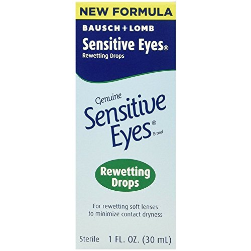 Bausch & Lomb Sensitive Eyes Rewetting Drops, 1 Ounce Bottles (Pack Of 3)