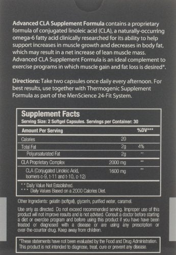 MenScience Androceuticals Advanced CLA Supplement Formula