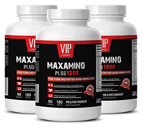 Post Workout Endurance - MAXAMINO Plus 1200 - Boost Endurance - 3 Bottles 540 Tablets
