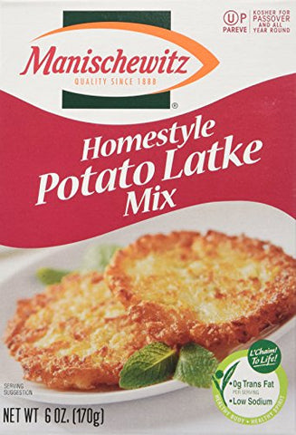 MANISCHEWITZ Homestyle Potato Latke Mix, 6-Ounce Boxes (Pack of 6)