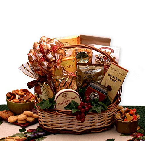 Gourmet Gift Bountiful Favorites Gourmet Snack Gift Basket